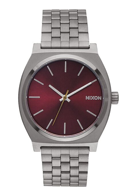Time Teller, Gunmetal / Deep Burgundy