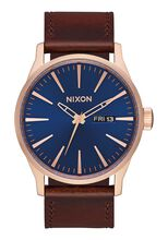 Sentry Leather, Rose Gold / Navy / Brown