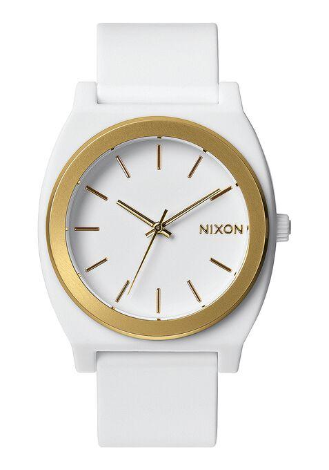 Time Teller P, White / Gold Ano