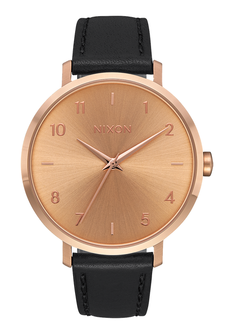 Arrow Leather, Rose Gold / Black