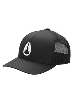 Iconed Trucker Hat, Black / White