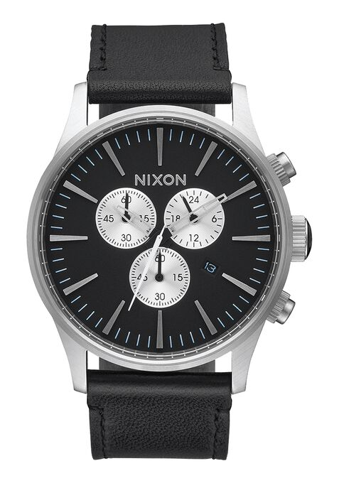 Sentry Chrono Leather, Black