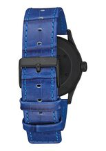 Sentry 38 Leather, Black / Blue Gator
