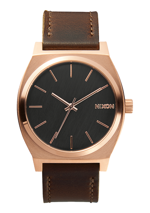 Time Teller, Rose Gold / Gunmetal / Brown