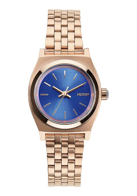 Small Time Teller, Rose Gold / Cobalt