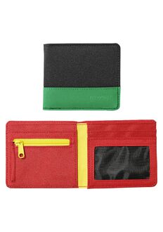 Atlas Nylon Showdown Bi-Fold Wallet, Rasta
