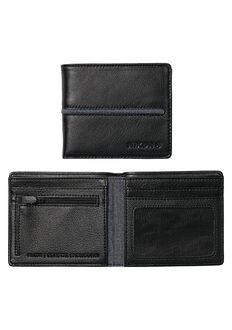 Coastal Showdown Bi-Fold Zip Wallet, Black / Black