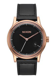 Station Leather, Rose Gold / Black