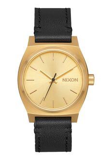 Medium Time Teller Leather, Gold / Black
