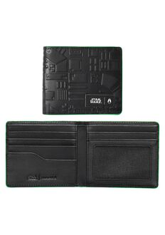 Showoff Leather Wallet SW, Death Star Black