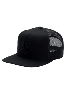 Deep Down Trucker Hat, All Black