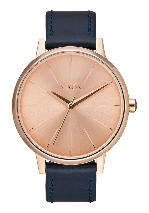 Kensington Leather, Rose Gold / Navy