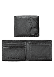 Haze Bi-Fold Wallet, All Black