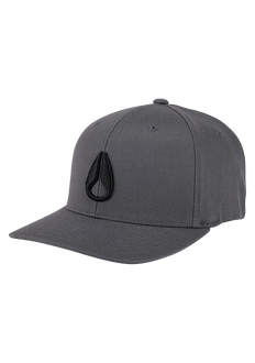 Deep Down Flex Fit Athletic Fit Cap, Charcoal / Black