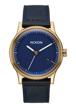 Station Leather, Gold / Navy