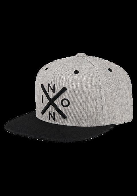 Exchange Snapback Hat, Heather Gray / Black