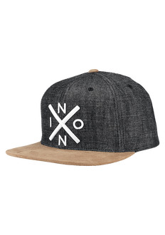 Exchange Snapback Hat, Black Denim