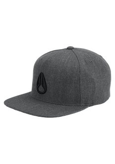 Simon Snap Back Cap, Dark Gray Heather