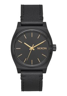 Medium Time Teller Leather, All Black