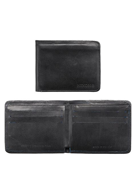 Stealth Slim Bi-Fold Wallet, Black