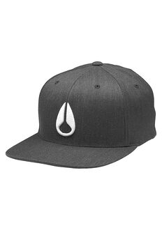 Gorra Flex Fit Athletic Fit Deep Down, Black Heather / White