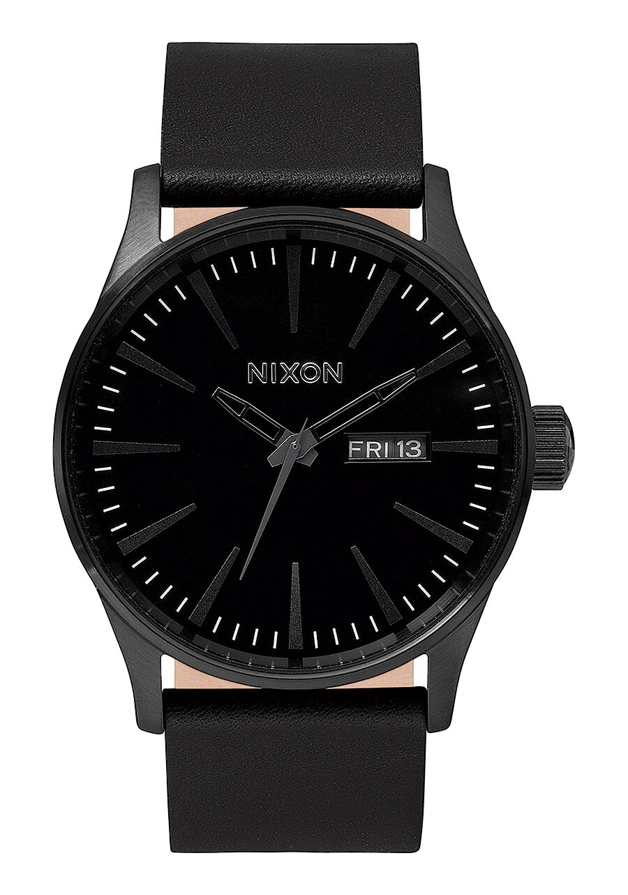 Sentry Leather Men S Watches Nixon Watches And Premium