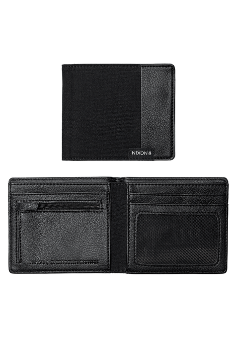 Showdown Canvas Bi-Fold Wallet, Black