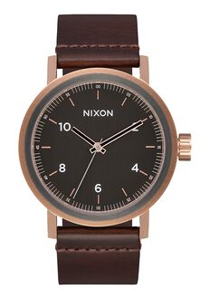 Stark Leather, Rose Gold / Gunmetal / Brown