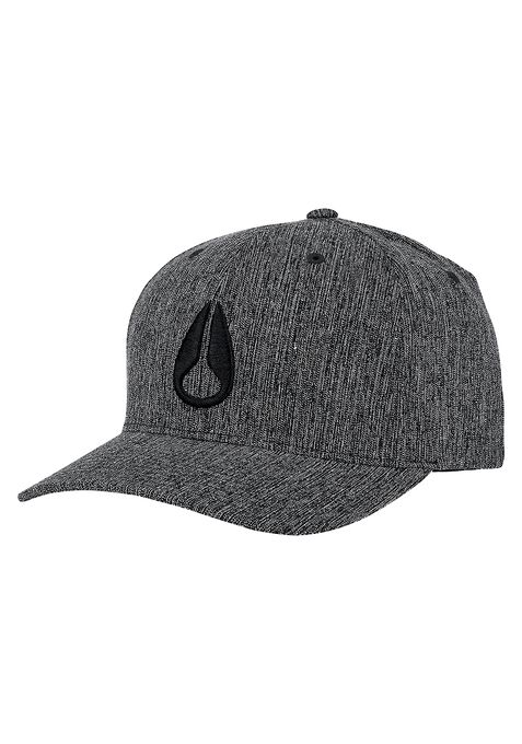 Deep Down Athletic Textured Hat, Black Woven