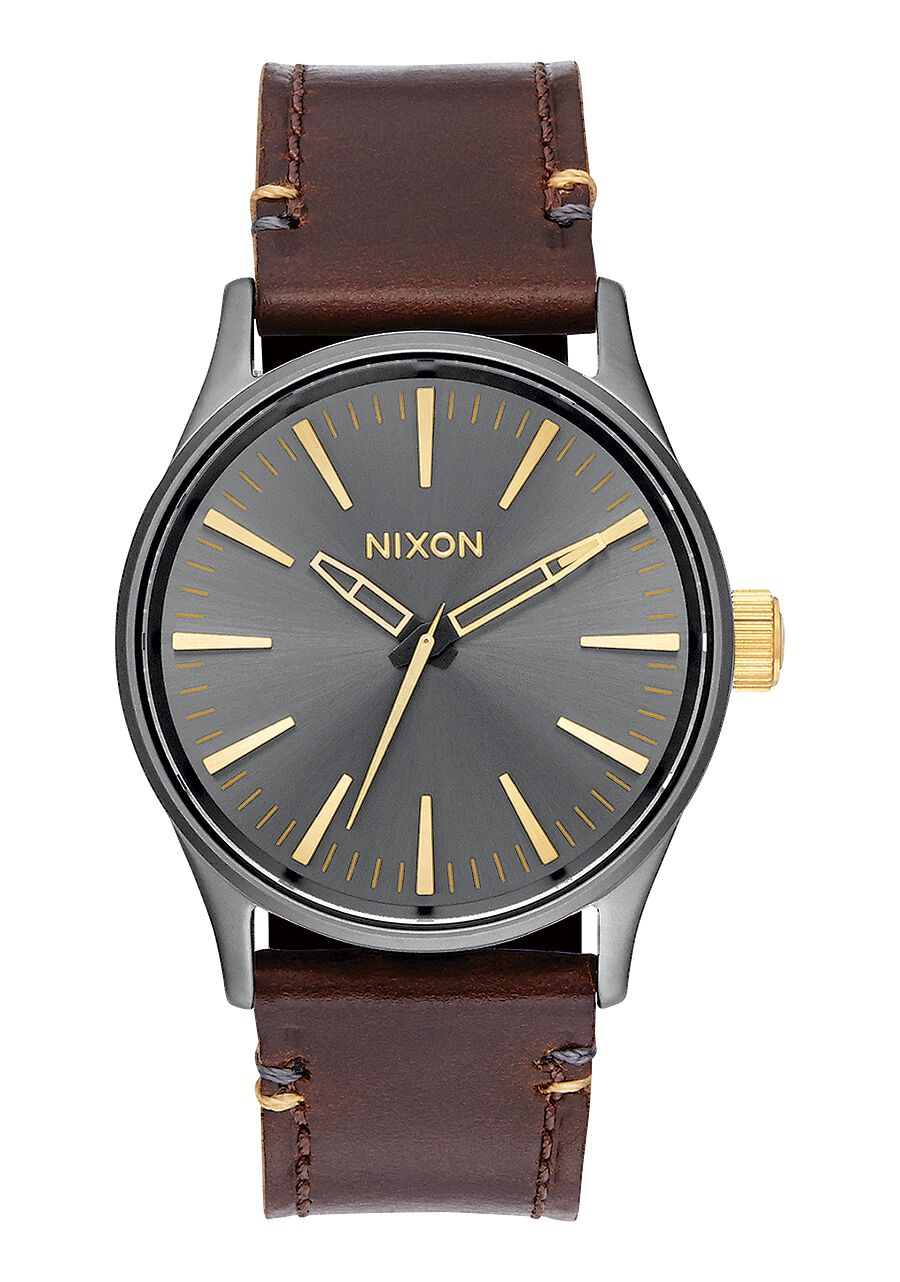 watches watch sentry amazon nixon com dp leather