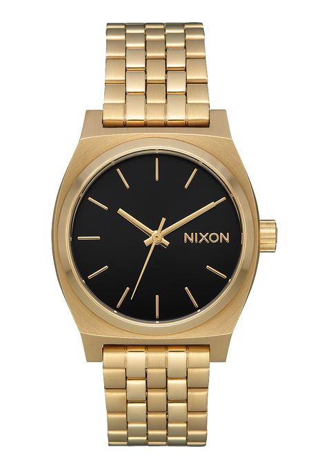 Medium Time Teller, Light Gold / Black Sunray