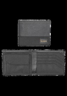 Origami Arc Bi-Fold Coin Wallet, Black