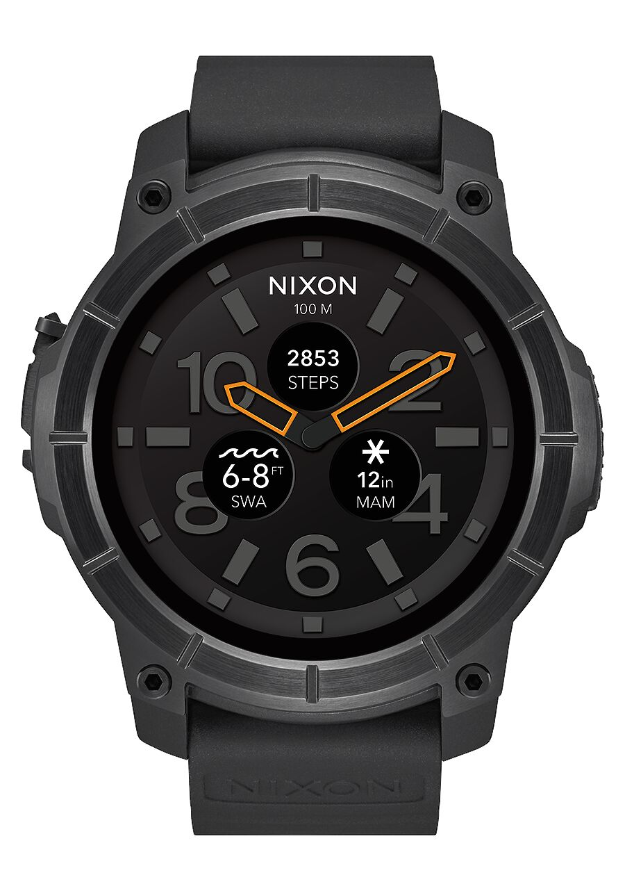 Mens tide collection water resistant surf tide watches nixon mission all black nvjuhfo Image collections