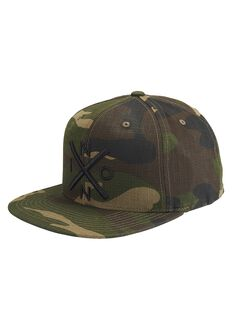 Exchange Snapback Hat, Woodland Camo