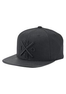 Exchange Snapback Hat, All Black / Black