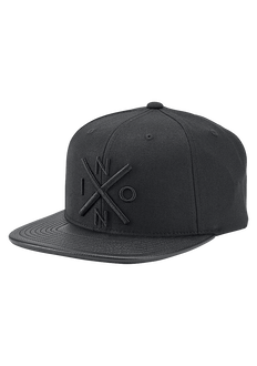 Exchange Snapback Hat, All Black / Black