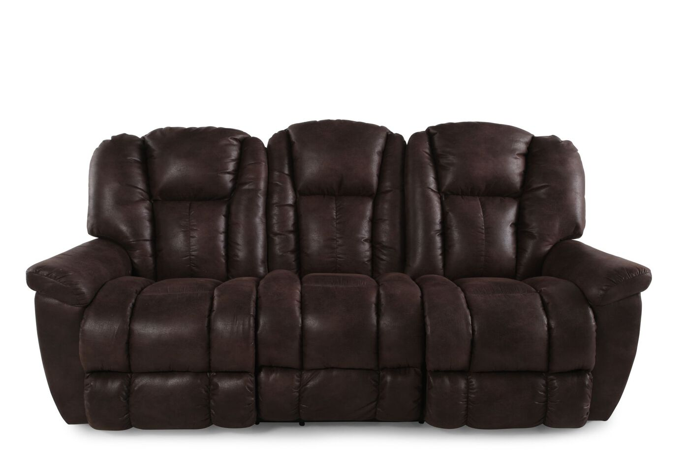 La Z Boy Maverick Sepia Reclining Sofa Mathis Brothers