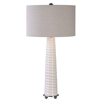 Uttermost Mavone Gloss White Table Lamp