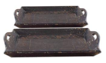 Uttermost Melani Antique Trays Set/2