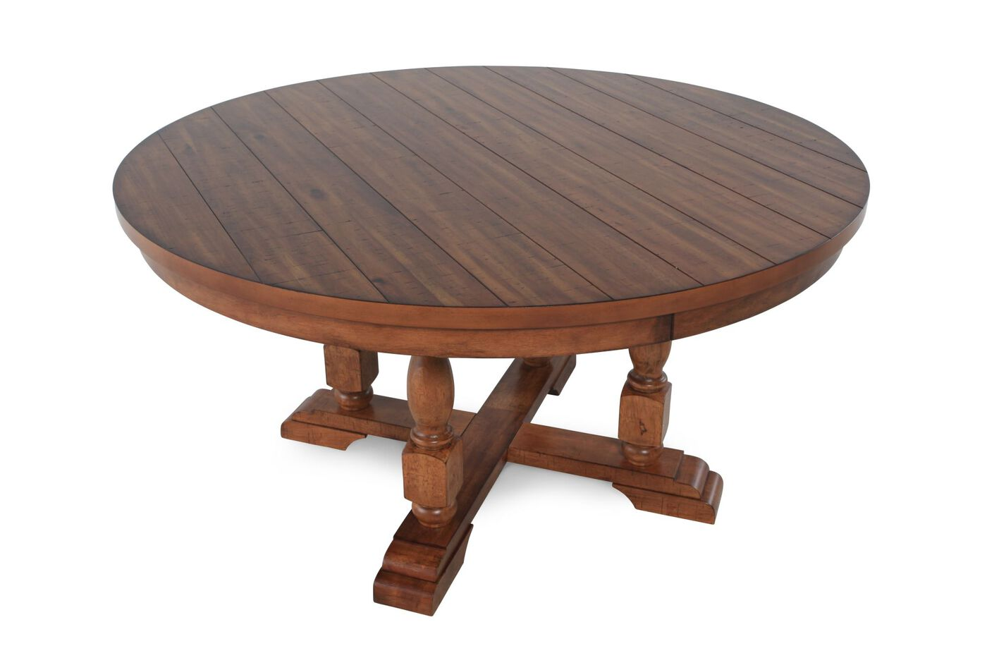 winners only grand estates rustic round dining table | mathis