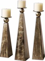 Uttermost Cesano Bronze Candleholders, Set/3