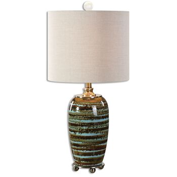 Uttermost Laurendine Bronze Stripes Table Lamp