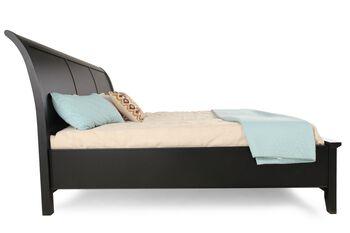 Winners Only Vintage Ebony King Sleigh Storage Bed