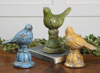 Uttermost Bird Trio Ceramic Figurines, Set/3