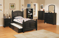 Winners Only Cape Cod Ebony Full Bed with Trundle