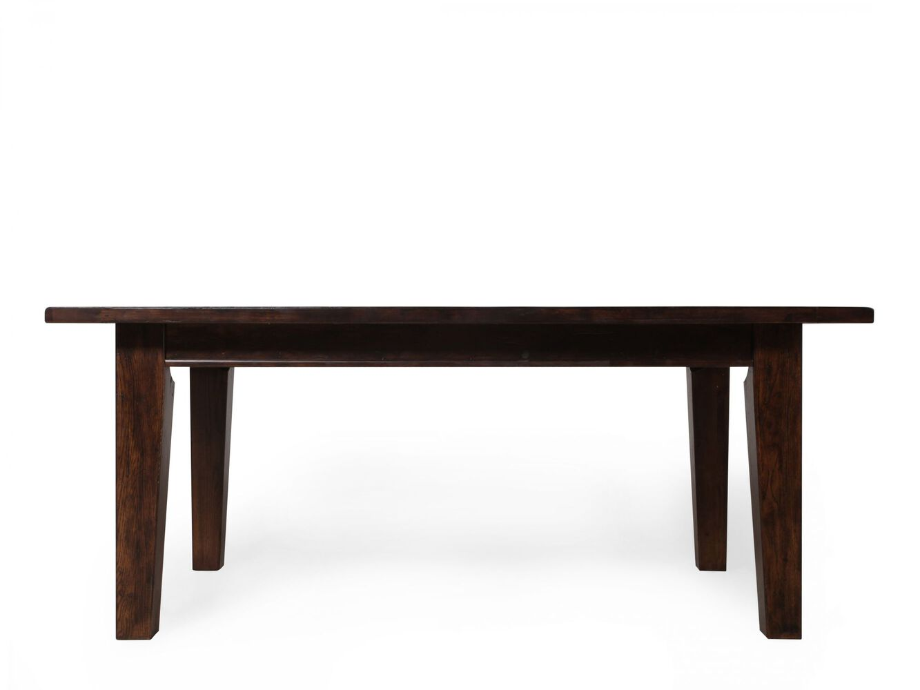 Broyhill Attic Rustic Oak Leg Table Mathis Brothers