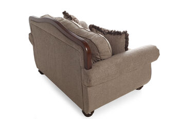 Ashley cecilyn cocoa loveseat mathis brothers furniture for Sofa bed 91762