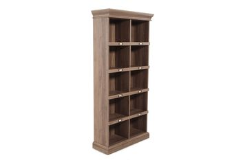 Sauder Tall Cubby Style Bookcase