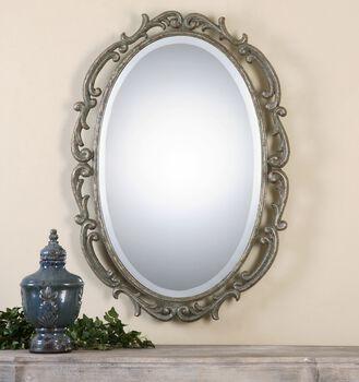 Uttermost Gwendolen Antiqued Silver Oval Mirror