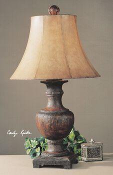 Uttermost Woodman Dark Wood Table Lamp